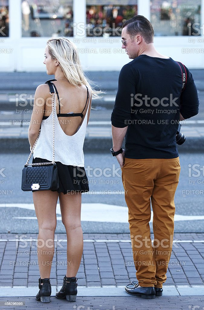 Waiting for my Taxi. stock photo