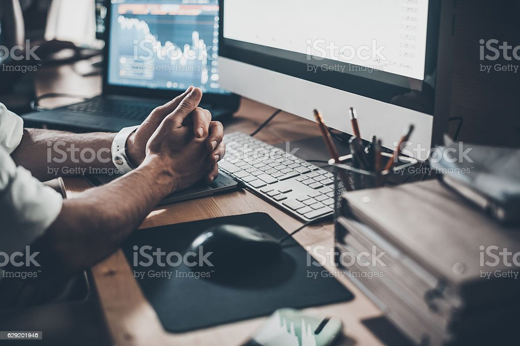 Waiting for new ideas. stock photo
