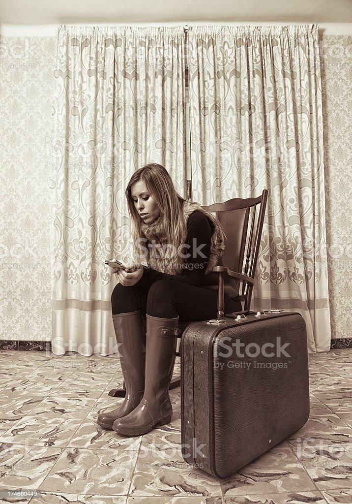 Waiting for news royalty-free stock photo