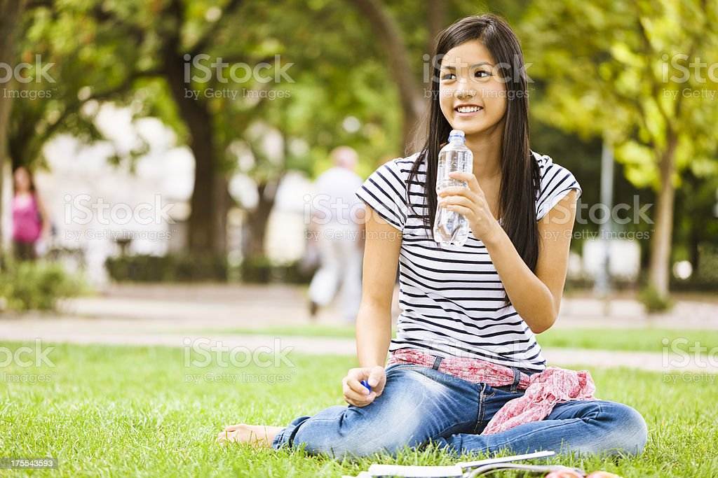 Waiting for somebody stock photo