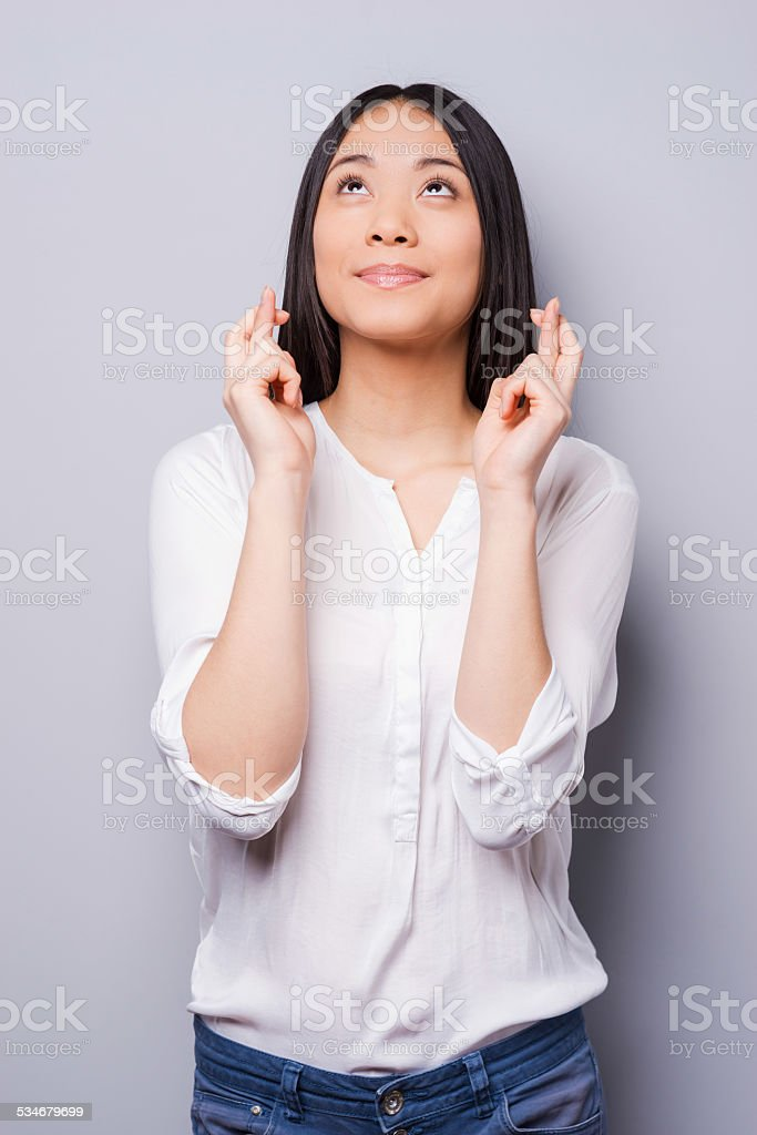 Waiting for special moment. stock photo
