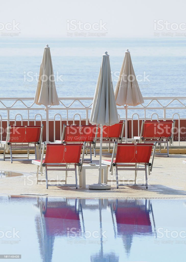 Waiting for Sun Worshippers royalty-free stock photo