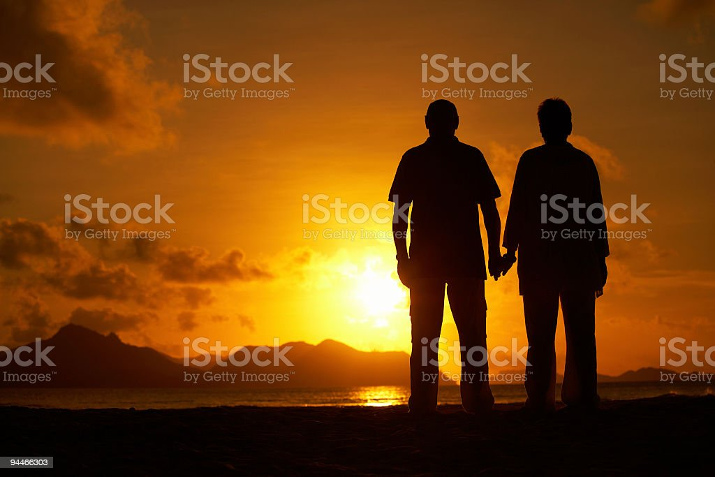 waiting for sunset royalty-free stock photo