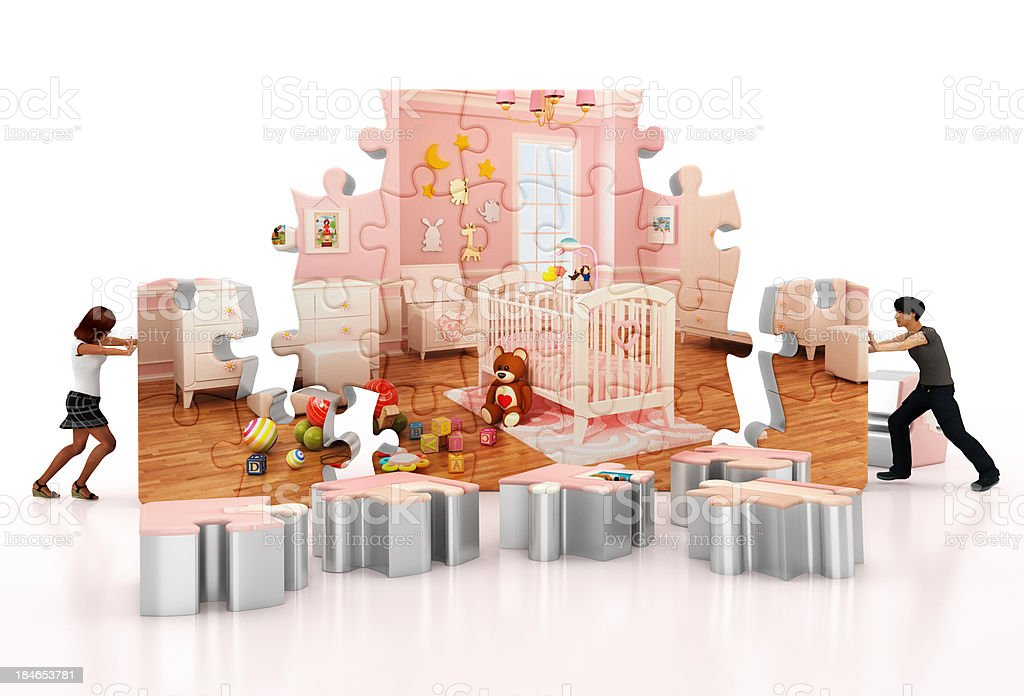 Waiting for the baby royalty-free stock photo