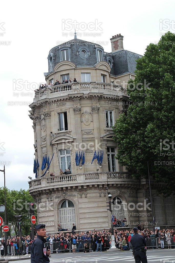 In attesa della Bastiglia funebre, Parigi 2012 foto stock royalty-free