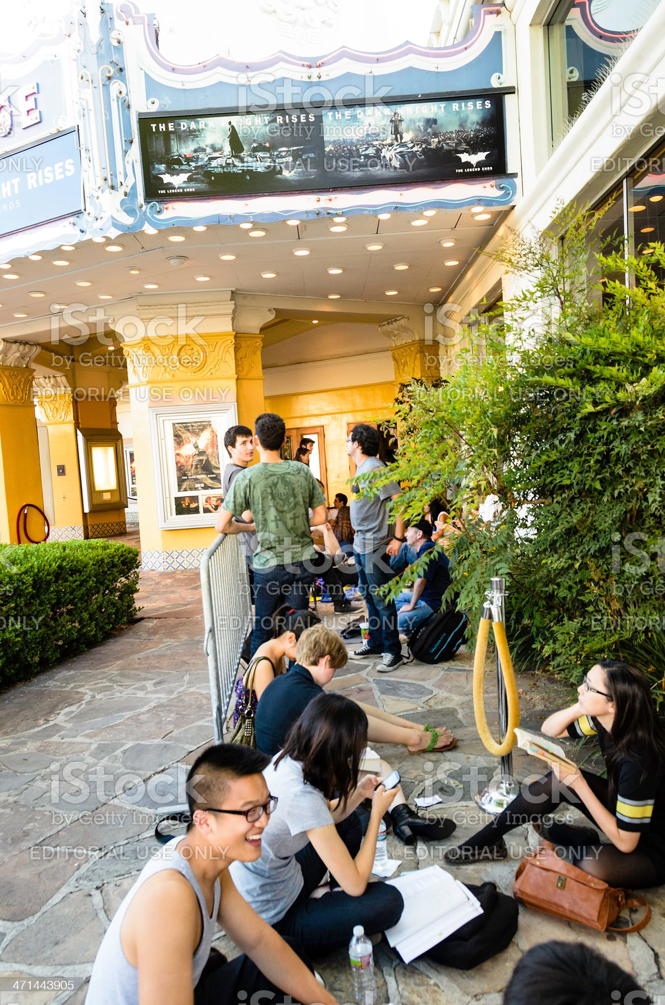 Waiting for 'The Dark Knight Rises' Midnight Release royalty-free stock photo