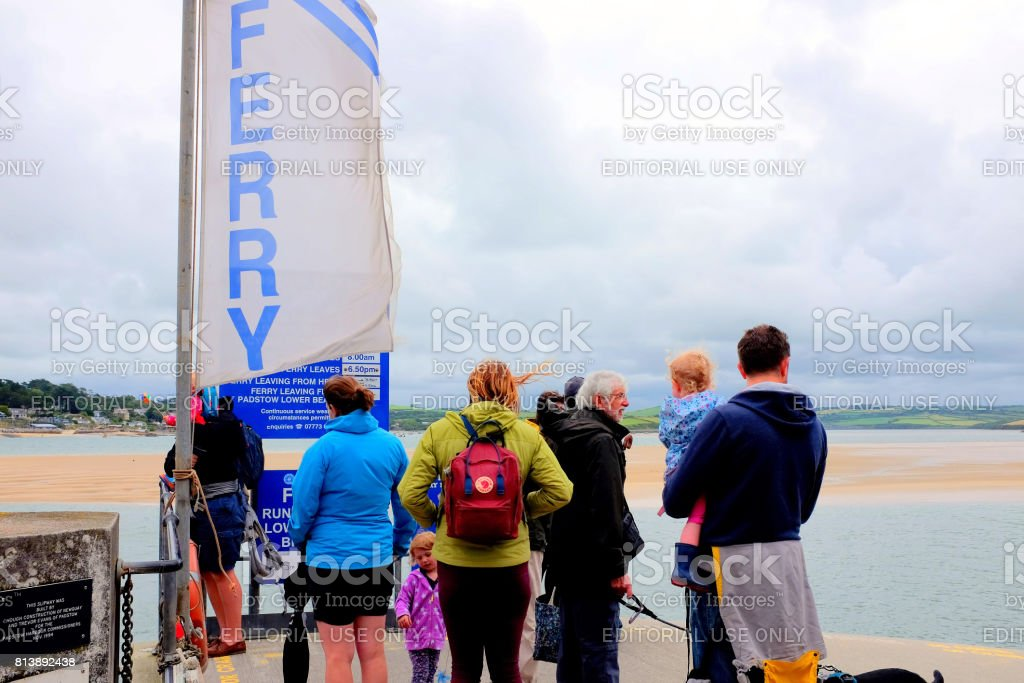 Waiting for the Ferry. stock photo