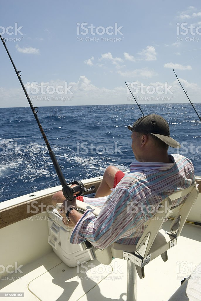 Waiting for the fish royalty-free stock photo