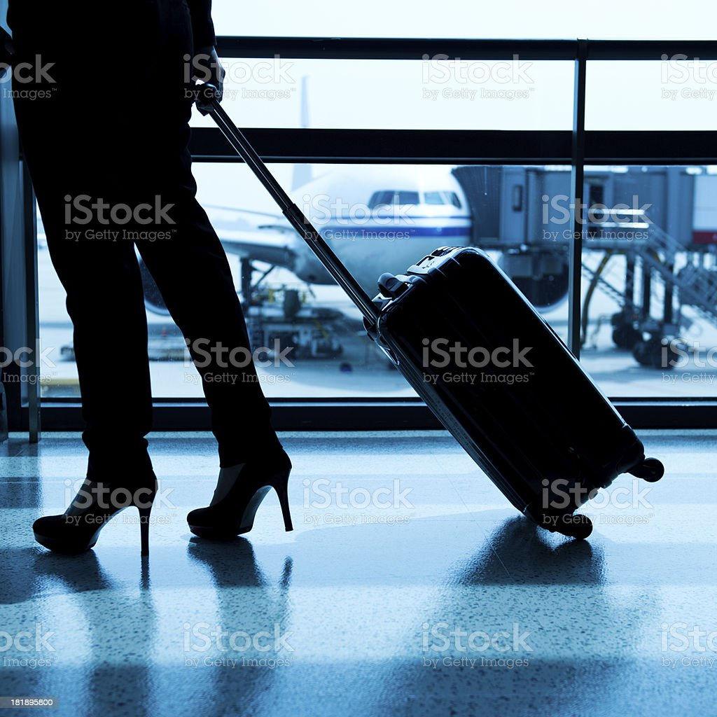 waiting for the flight royalty-free stock photo
