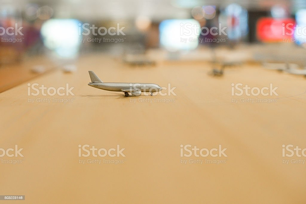 Waiting for the flight travel concept airport stock photo