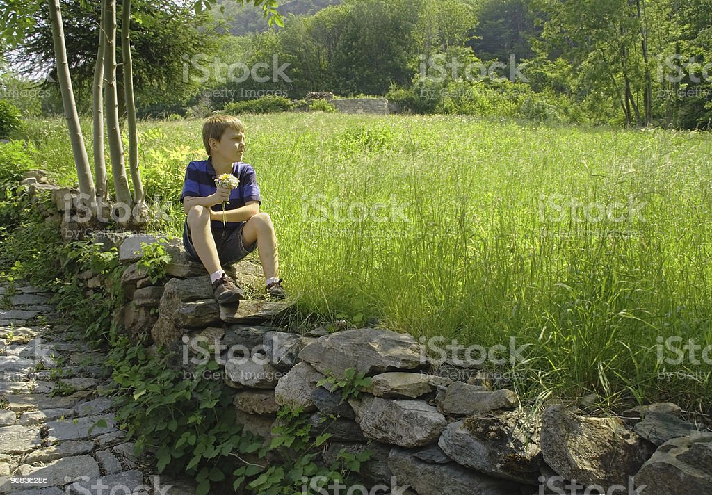Waiting for the Girl royalty-free stock photo