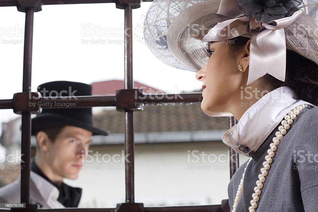Waiting for the husband... stock photo
