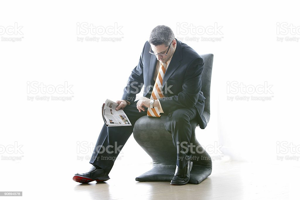 Waiting For The Interview royalty-free stock photo