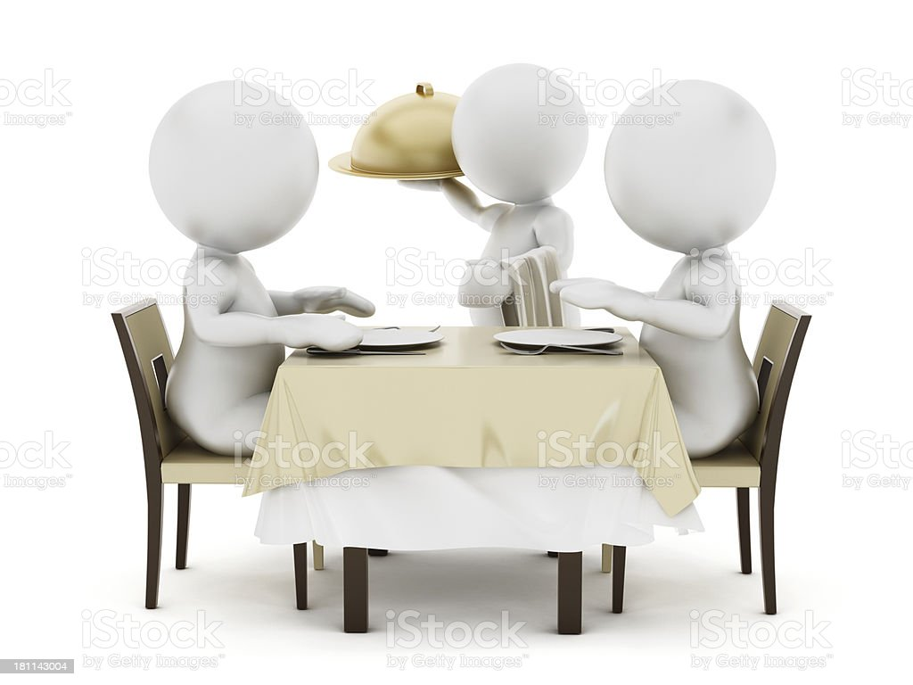 Waiting for the meal royalty-free stock photo