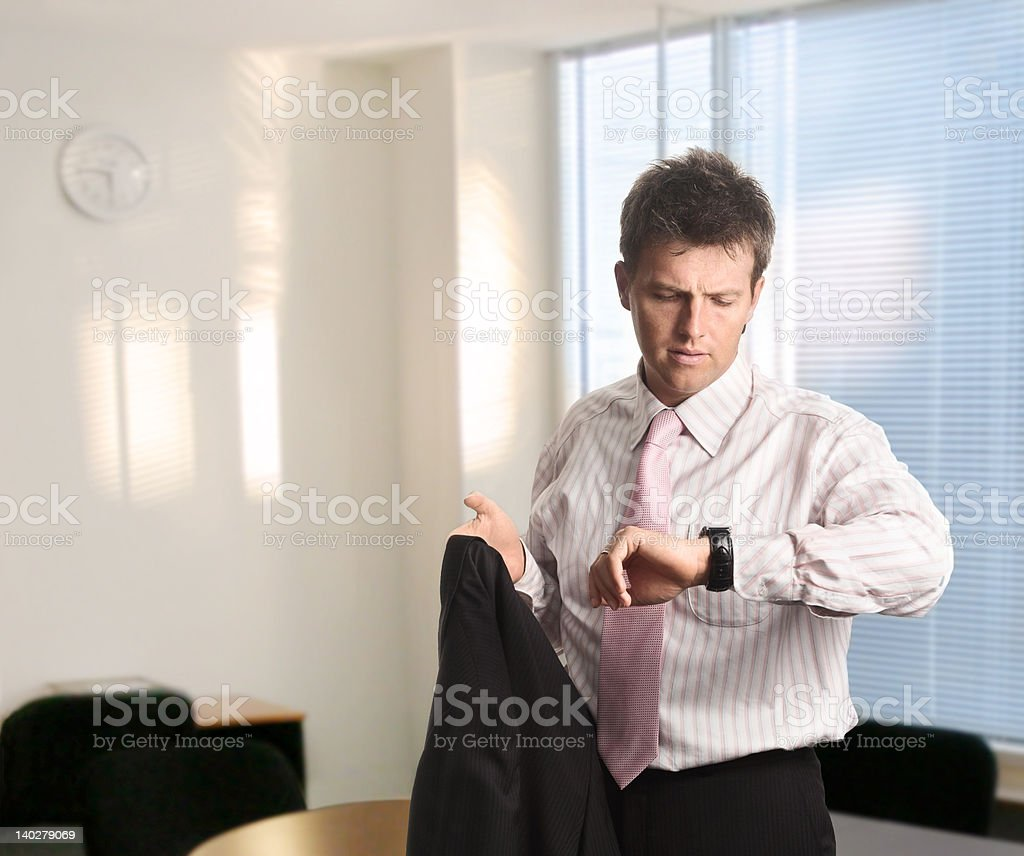 Waiting for the meeting royalty-free stock photo