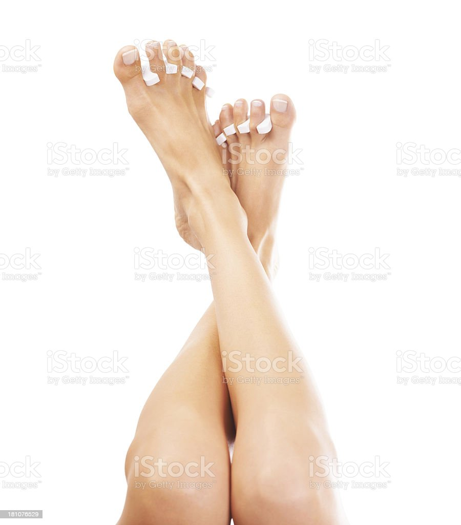 Waiting for the nail polish to dry royalty-free stock photo