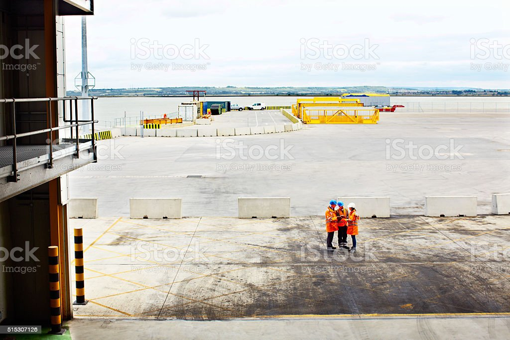 Waiting for the next shipment stock photo