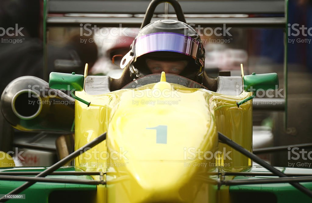 F1600  waiting for the race on a start royalty-free stock photo