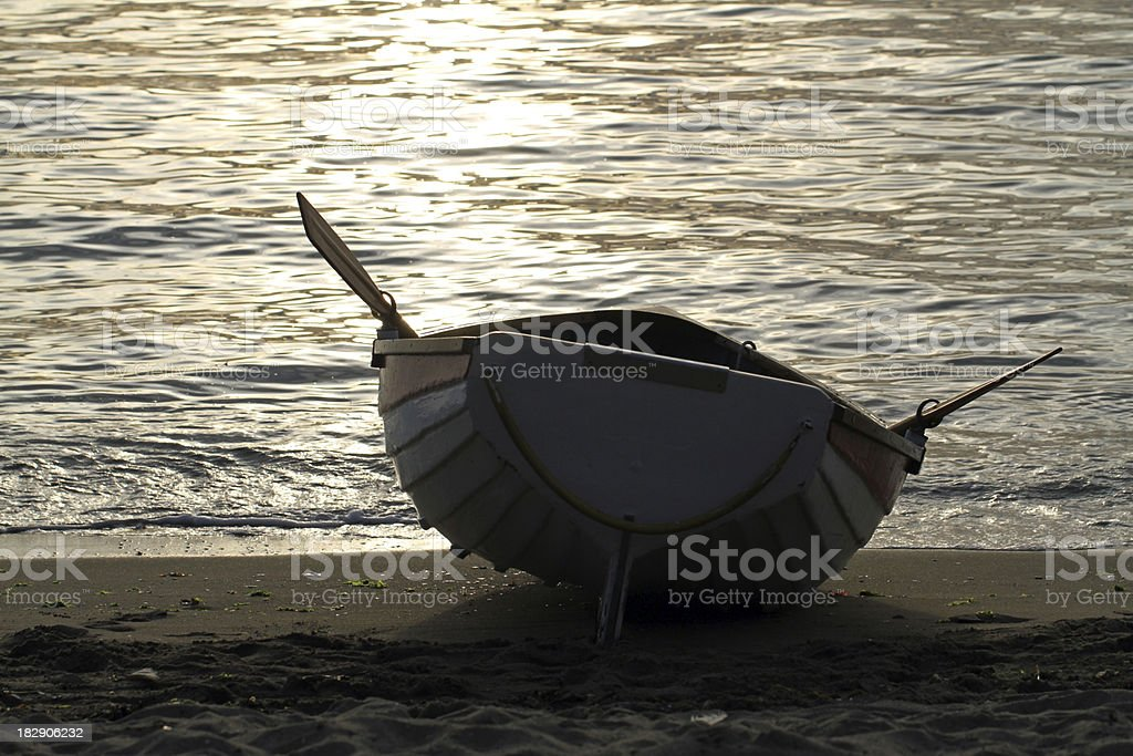 Waiting for the Right Wave royalty-free stock photo