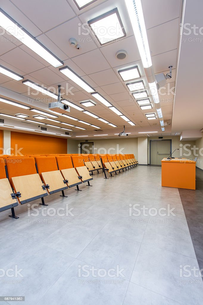 Waiting for the students to enter stock photo