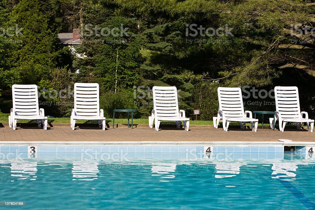 Waiting for the Sunbathers royalty-free stock photo