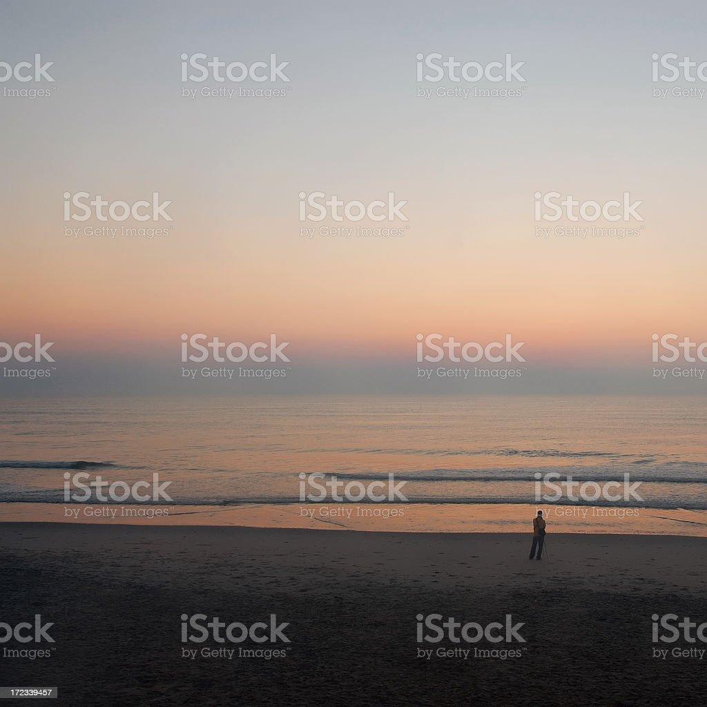 Waiting for the sunrise stock photo