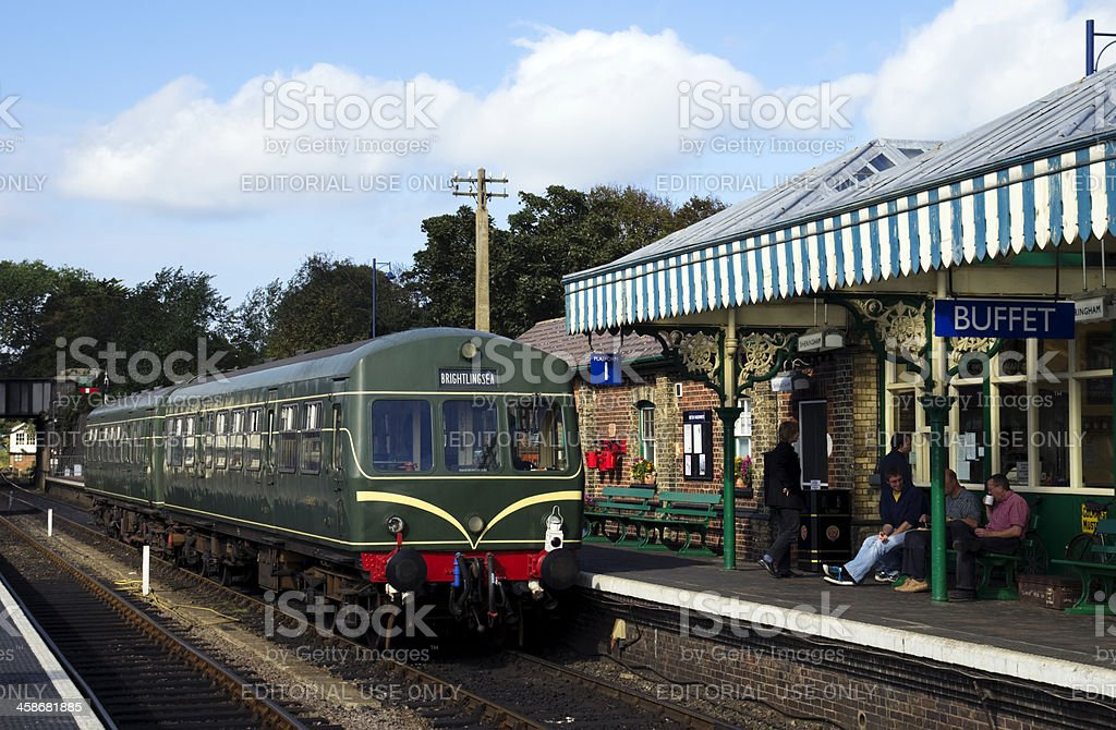 Waiting for the train at Sheringham royalty-free stock photo