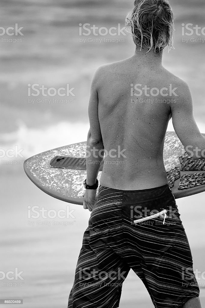 Waiting for the waves royalty-free stock photo