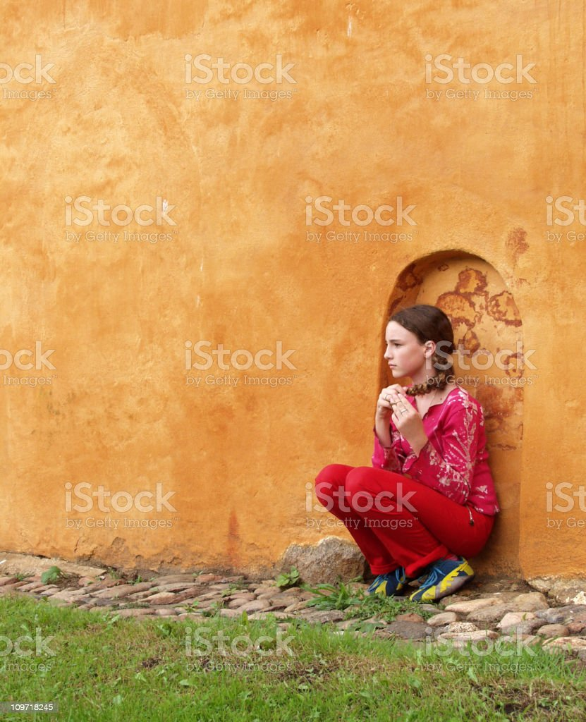 Waiting Girl.... royalty-free stock photo