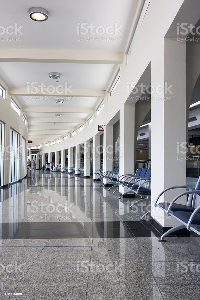 Waiting hall of a modern airport royalty-free stock photo