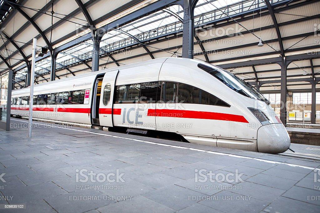 Waiting ICE train - locomotive stock photo