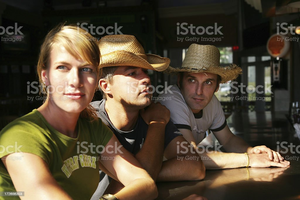 Waiting in a bar royalty-free stock photo