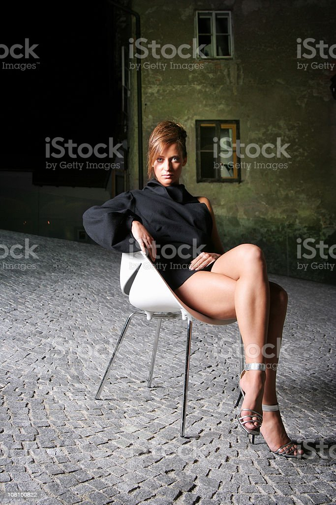 Waiting in a dark alley royalty-free stock photo