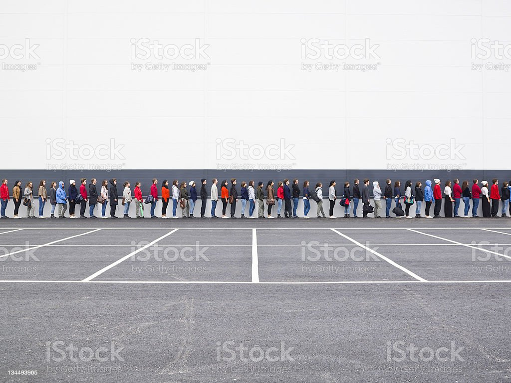 Waiting in Line stock photo