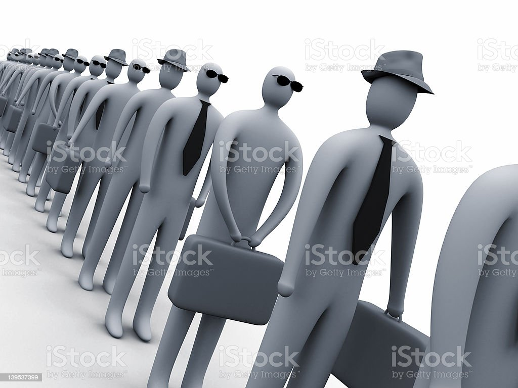 Waiting in line #2 royalty-free stock photo