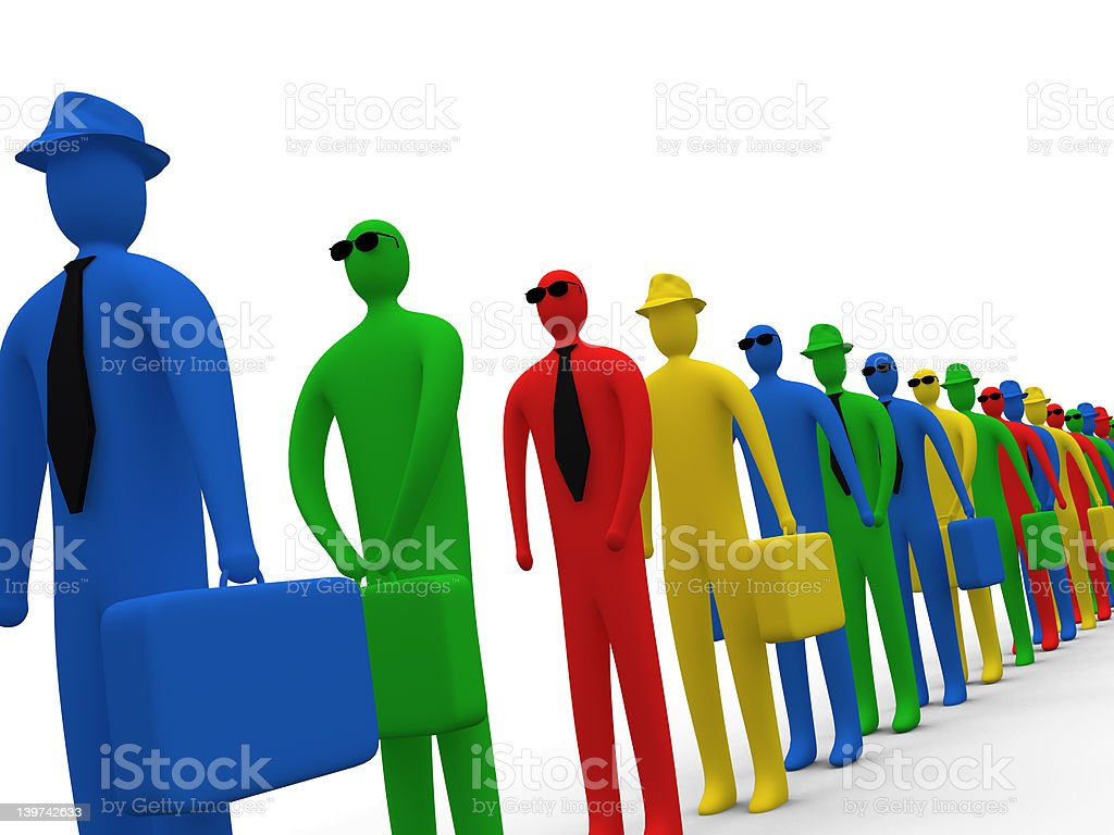 Waiting In Line #4 royalty-free stock photo