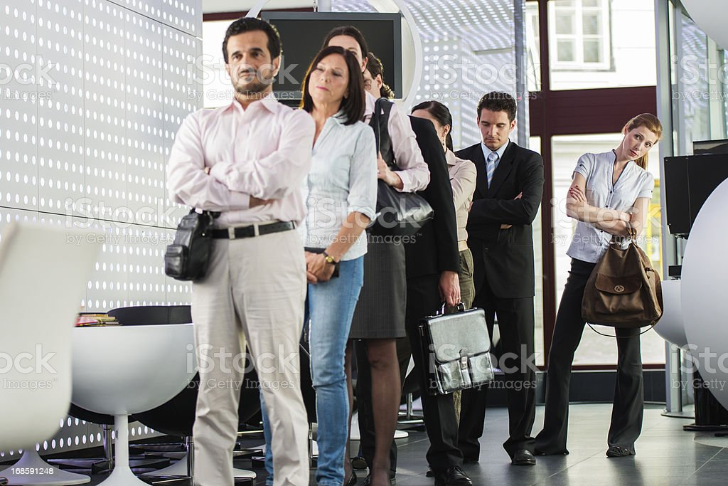 Waiting in line royalty-free stock photo