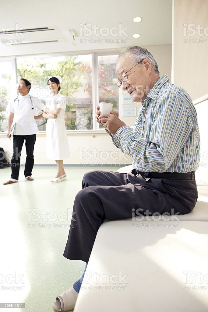 Waiting in the hospital royalty-free stock photo