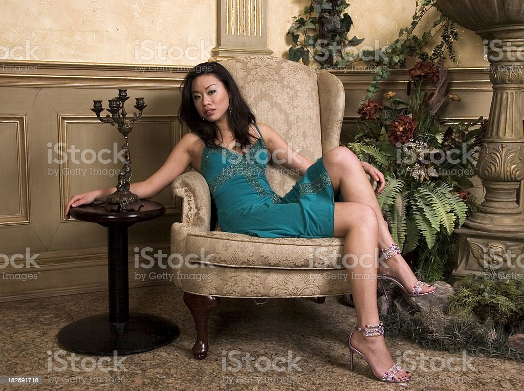 Waiting in the lobby. royalty-free stock photo
