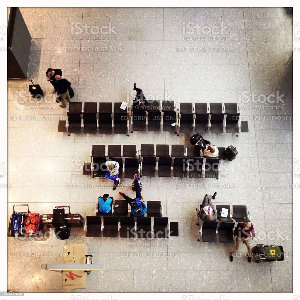 Waiting Lounge stock photo