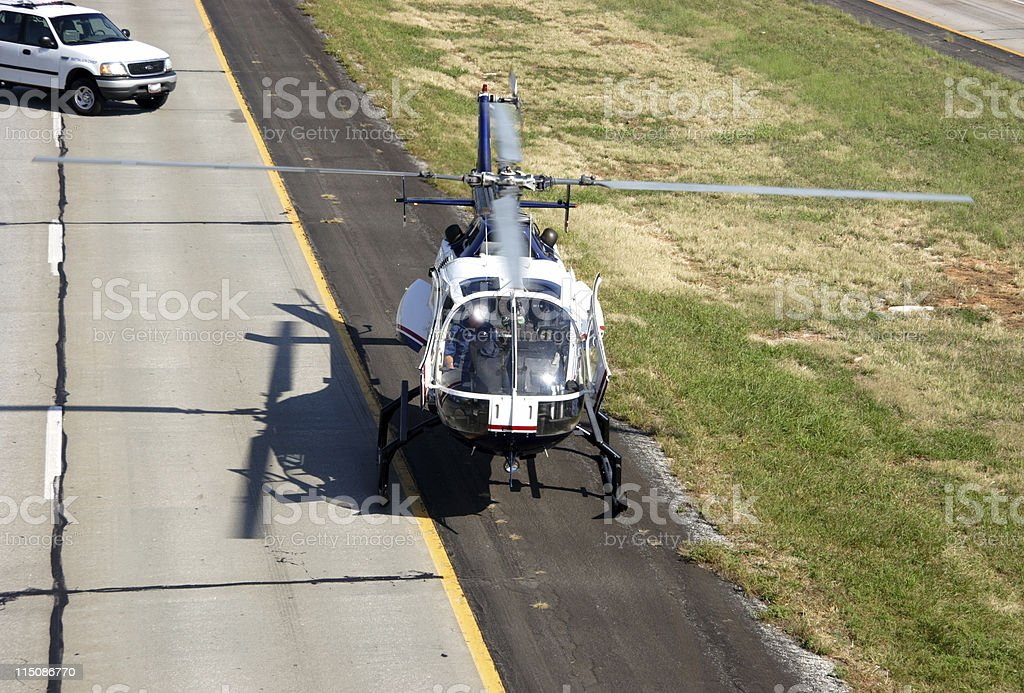 waiting medivac (accident series) royalty-free stock photo