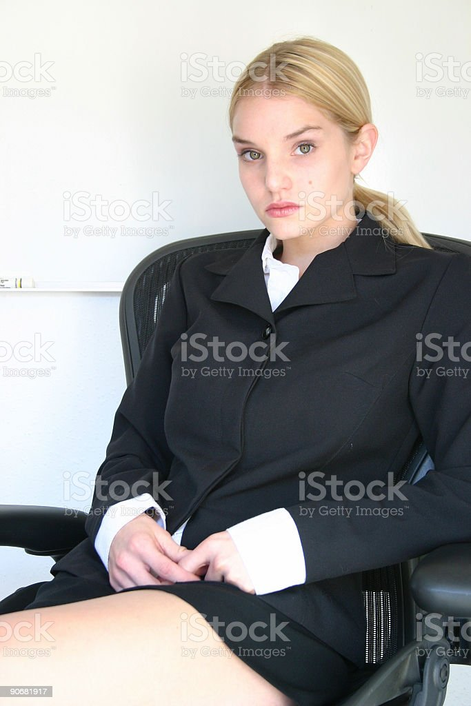 waiting on an answer royalty-free stock photo