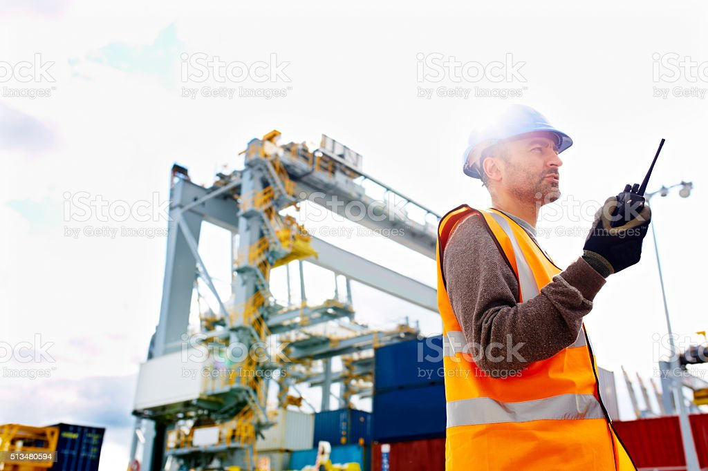 Waiting on confirmation stock photo