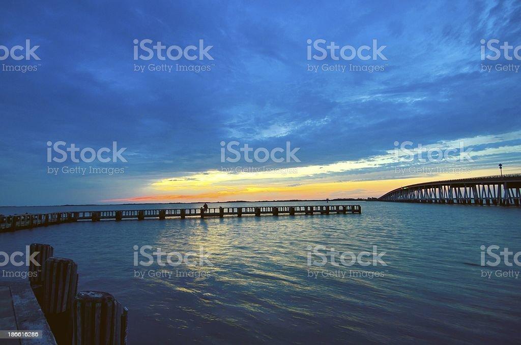 Waiting On Sunrise Or Sunset royalty-free stock photo