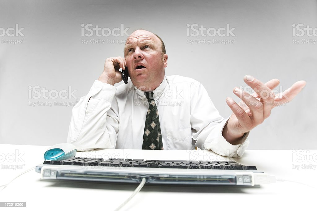Waiting on the phone royalty-free stock photo