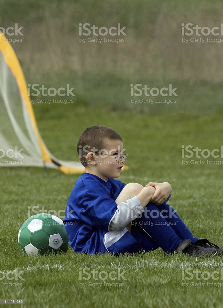 Waiting on the Sidelines royalty-free stock photo