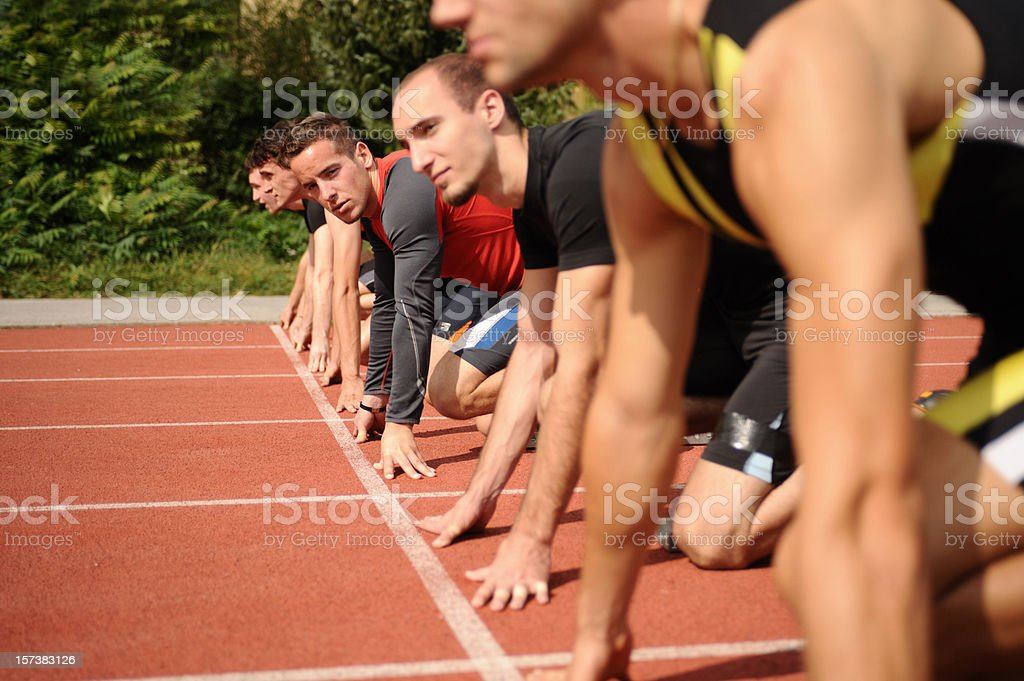 Waiting on the starting line royalty-free stock photo