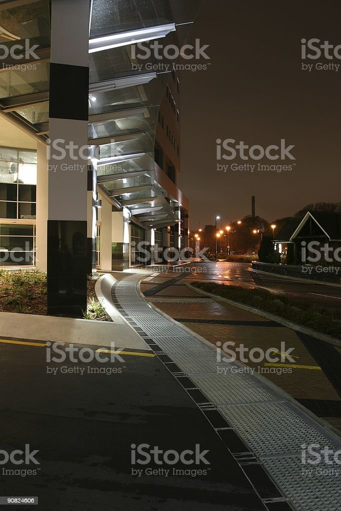 Waiting outside the building royalty-free stock photo