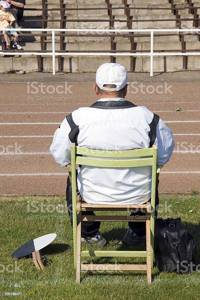 waiting referee royalty-free stock photo