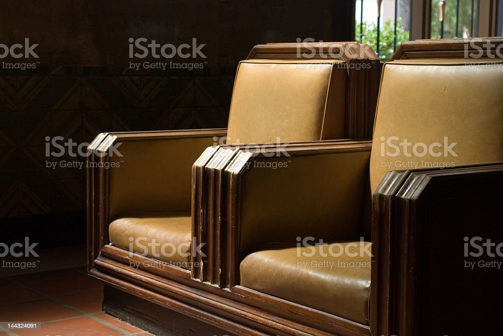 Waiting room chairs royalty-free stock photo